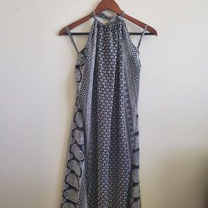 Elan Black & White Halter Maxi Dress Size Medium